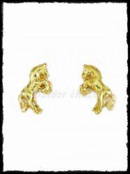 Ágaskodó paci fülbevaló aranyból