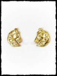 Arany lófej 2. fülbevaló
