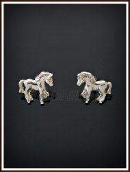 Ezüst lovacska fülbevaló