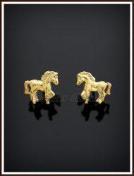 Arany lovacska fülbevaló