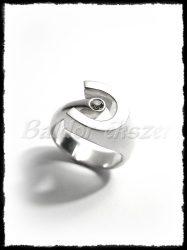 Egyköves ezüst patkó gyűrű