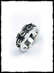 Patkó mintás ezüst karikagyűrű