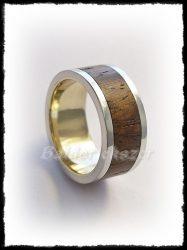 Arany karikagyűrű paliszander betéttel