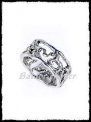 Ezüst hullámos gyűrű