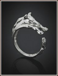 Ezüst nyitott lovacska gyűrű