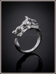 Arany nyitott lovacska gyűrű