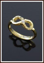Arany köves patkó gyűrű / briliánssal is rendelhető