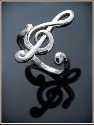 Arany violinkulcs gyűrű