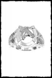 Lófejes patkó gyűrű