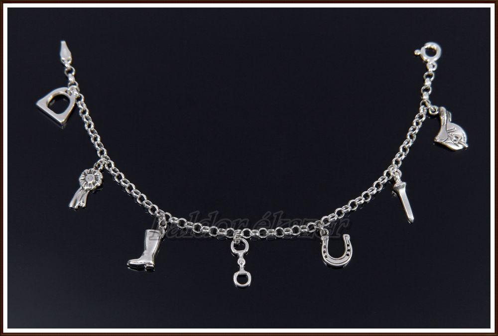 legnepszerubb online áruház világszerte értékesítik Ezüst karlánc 7 kicsi medállal - Baldor lovasékszer - Equestrian ...