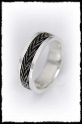 Lószőr betétés ezüst gyűrű