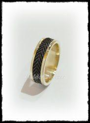 Lószőr betétés arany gyűrű