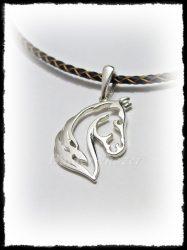 Áttört ló fej medál ezüstből vagy aranyból