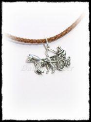 Ezüst egy lovas fogathajtó medál