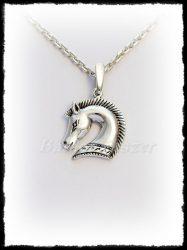 Ezüst etruszk lófej medál