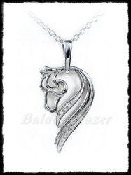 Ezüst köves ló medál