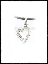 Szíves lóláb medál ezüstből vagy aranyból