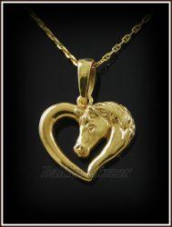 Arany szíves paci medál