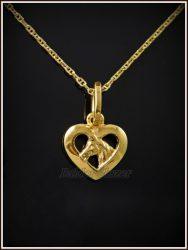 Arany pacis szív medál