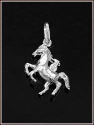 Ezüst bőséghozó lovacska medál