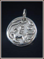 Ezüst Kelta lovas érme medál