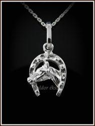 Ezüst patkós lófej medál