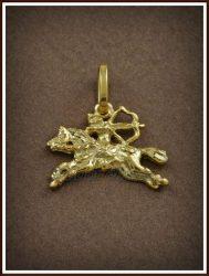 Arany magyar lovasíjász medál
