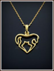 Arany áttört szív medál
