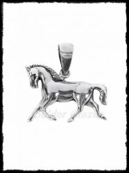 Ezüst ló medál