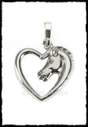 Ezüst szív paci medál