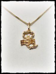 Skorpió medál ezüstből vagy aranyból