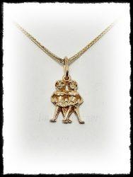 Ikrek medál ezüstből vagy aranyból