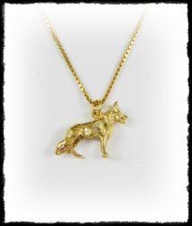 Arany németjuhász kutya medál