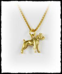 Arany amstaff kutya medál