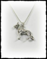 Ezüst németjuhász kutya medál