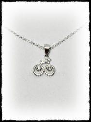 Köves bicikli medál ezüstből vagy aranyból
