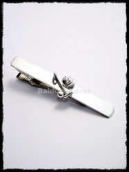 Ezüst lovaspóló nyakkendőcsipesz